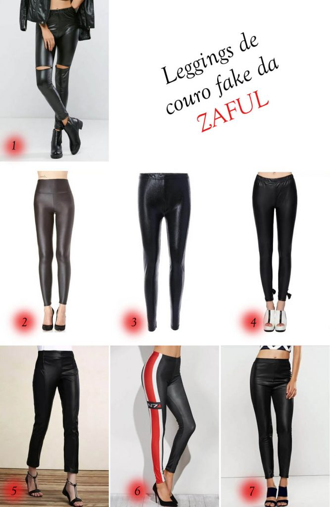Wishlist da Zaful: estrelando as leggings de couro fake!